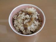ごぼうの牛肉の混ぜご飯