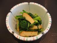 ~レシピ~小松菜と平天のからし和え