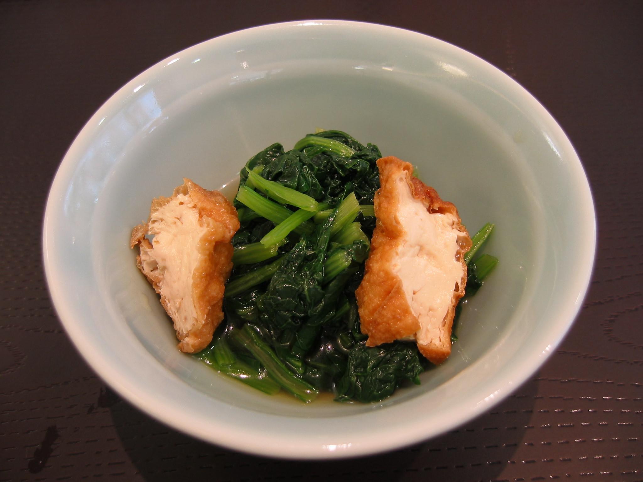 ~レシピ~小松菜と厚揚げの煮浸し